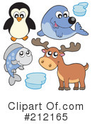 Royalty-Free (RF) Animals Clipart Illustration #212165