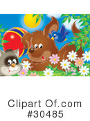 Royalty-Free (RF) Animals Clipart Illustration #30485