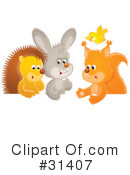 Royalty-Free (RF) animals Clipart Illustration #31407