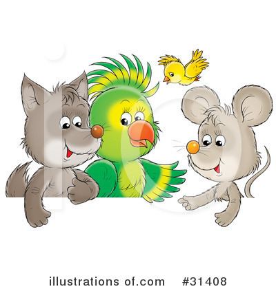 Royalty-Free (RF) Animals Clipart Illustration by Alex Bannykh - Stock Sample #31408