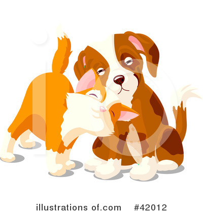 Dog And Cat Clipart #42012 by Pushkin