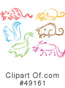 Royalty-Free (RF) Animals Clipart Illustration #49161
