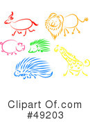 Royalty-Free (RF) animals Clipart Illustration #49203