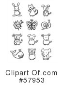 Royalty-Free (RF) animals Clipart Illustration #57953