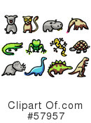 Royalty-Free (RF) Animals Clipart Illustration #57957
