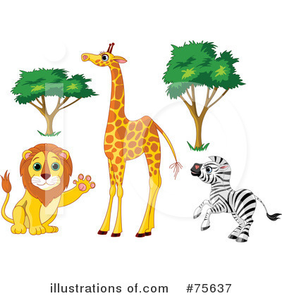 Royalty-Free (RF) Animals Clipart Illustration by Pushkin - Stock Sample #75637