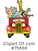 Royalty-Free (RF) Animals Clipart Illustration #75668