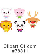 Royalty-Free (RF) Animals Clipart Illustration #78311
