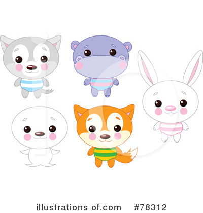 Royalty-Free (RF) Animals Clipart Illustration by Pushkin - Stock Sample #78312