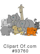 Royalty-Free (RF) animals Clipart Illustration #93760