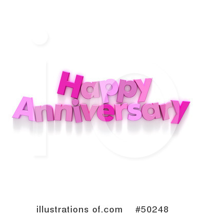 RoyaltyFree RF Anniversary Clipart Illustration by Franck Boston Stock