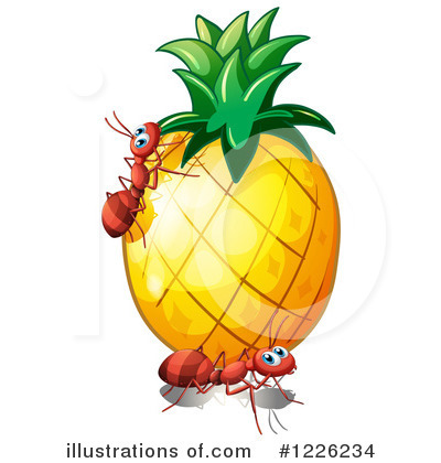 Pineapple Clipart #1226234 by Graphics RF