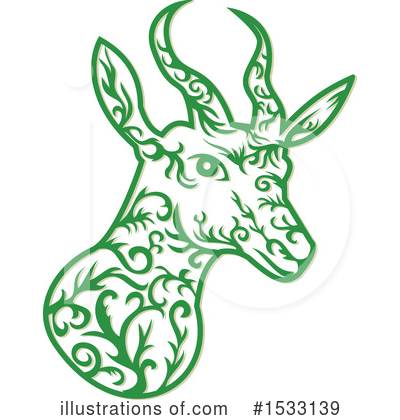 Royalty-Free (RF) Antelope Clipart Illustration by patrimonio - Stock Sample #1533139