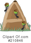 Royalty-Free (RF) ants Clipart Illustration #210846