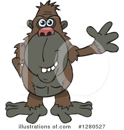 Ape Clipart #1280527 by Dennis Holmes Designs