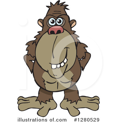 Monkey Clipart #1280529 by Dennis Holmes Designs