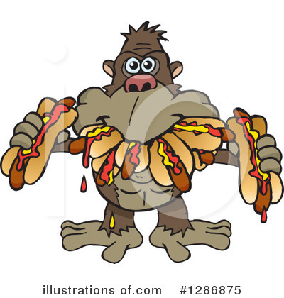 Royalty-Free (RF) Ape Clipart Illustration by Dennis Holmes Designs - Stock Sample #1286875