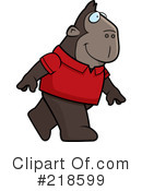 Royalty-Free (RF) Ape Clipart Illustration #218599