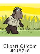 Royalty-Free (RF) Ape Clipart Illustration #218718