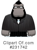 Royalty-Free (RF) Ape Clipart Illustration #231742