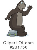 Royalty-Free (RF) Ape Clipart Illustration #231750