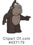 Royalty-Free (RF) Ape Clipart Illustration #437179