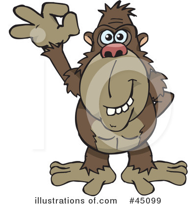 Monkey Clipart #45099 by Dennis Holmes Designs