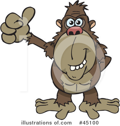 Monkey Clipart #45100 by Dennis Holmes Designs