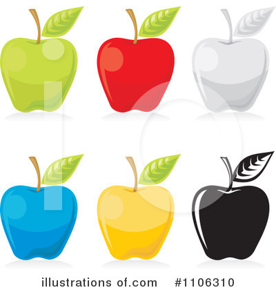 Red Apples Clipart #1106310 by Any Vector