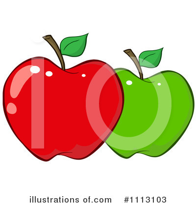 Red Apples Clipart #1113103 by Hit Toon