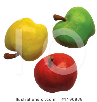 Granny Smith Apples Clipart #1190988 by Amy Vangsgard
