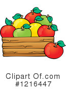 Royalty-Free (RF) Apple Clipart Illustration #1216447