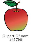 Royalty-Free (RF) apple Clipart Illustration #45798