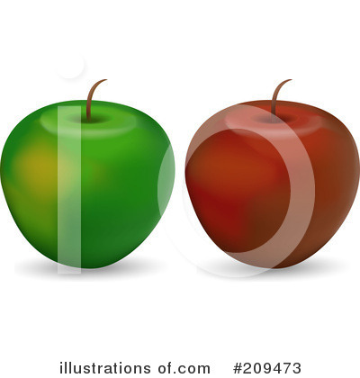 Royalty-Free (RF) Apples Clipart Illustration by elaineitalia - Stock Sample #209473