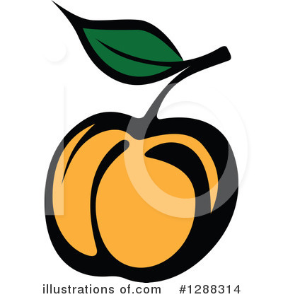 Peach Clipart #1288314 by Vector Tradition SM