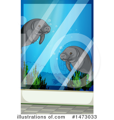 Manatee Clipart #1473033 by Graphics RF