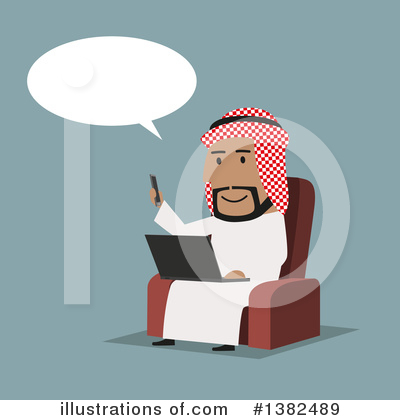 Arabian Business Man Clipart #1382489 by Vector Tradition SM