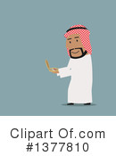 Royalty-Free (RF) Arabian Businessman Clipart Illustration #1377810