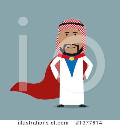 Arabian Business Man Clipart #1377814 by Vector Tradition SM