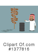 Royalty-Free (RF) Arabian Businessman Clipart Illustration #1377816