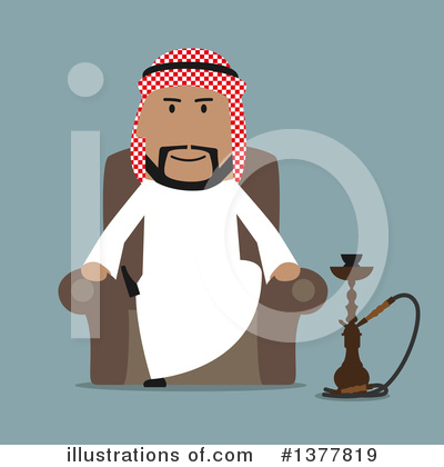 Arabian Business Man Clipart #1377819 by Vector Tradition SM