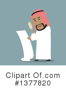 Royalty-Free (RF) Arabian Businessman Clipart Illustration #1377820