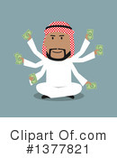 Royalty-Free (RF) Arabian Businessman Clipart Illustration #1377821