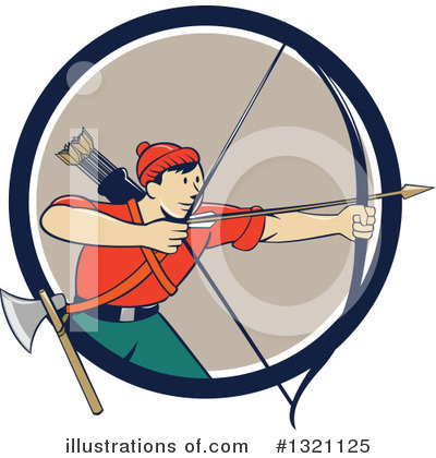 Archery Clipart #1321125 by patrimonio