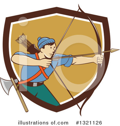 Archery Clipart #1321126 by patrimonio