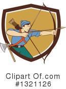 Royalty-Free (RF) Archer Clipart Illustration #1321126