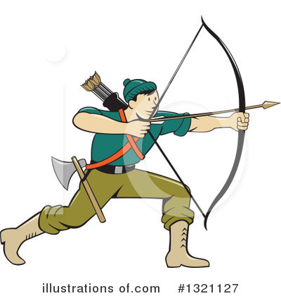 Archery Clipart #1321127 by patrimonio