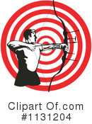 Royalty-Free (RF) archery Clipart Illustration #1131204