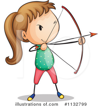 Royalty-Free (RF) Archery Clipart Illustration by Graphics RF - Stock Sample #1132799