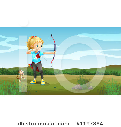 Royalty-Free (RF) Archery Clipart Illustration by Graphics RF - Stock Sample #1197864